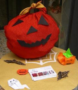 Furoshiki borsa di zucca halloween