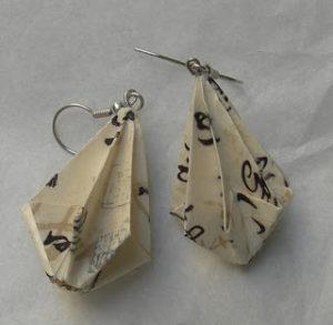 origami ombrello orecchini