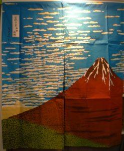 Tenda Noren Fuji di Hokusai