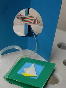 origami biglietto estivo