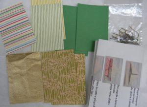 origami barchette orecchini kit