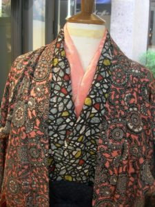 kimono con rosa