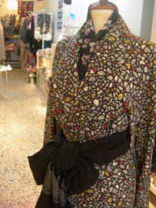 kimono con nero