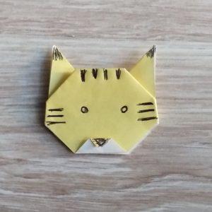origami tigra con faccia