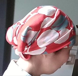 Furoshiki come cappellino 2