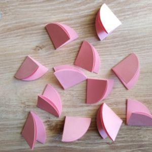 cerchi di carta piegata a un quarto