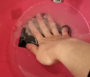 lavare premendo
