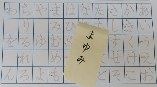 esercizi di hiragana