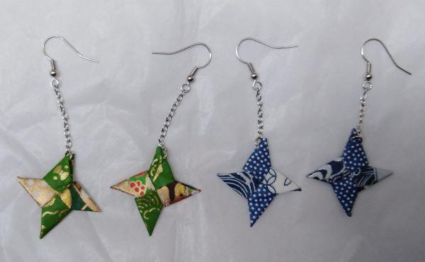 orecchini stella di carta