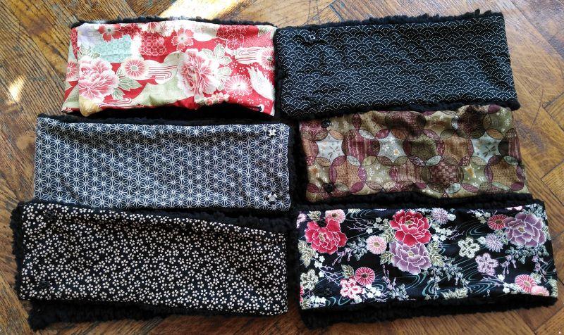 copricollo con stoffe giapponesi