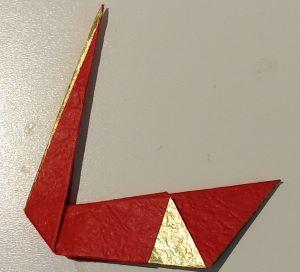 origami cigno piegato collo