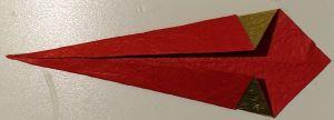Origami piegato sottile