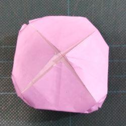 origami fiore di loto dietro