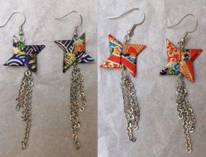 orecchini di origami