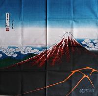 Furoshiki Hokusai Fuji Nero
