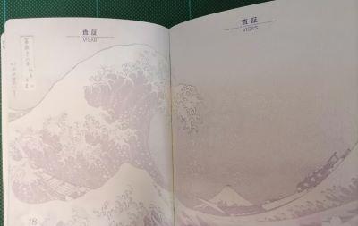 Onda di Hokusai su passaporto giapponese