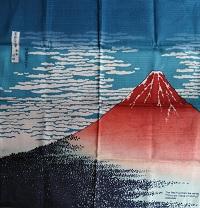 Furoshiki Hokuisai Mt. Fuji Rosso