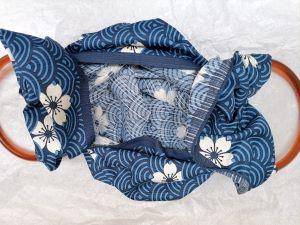 fa la borsa con furoshiki e manici