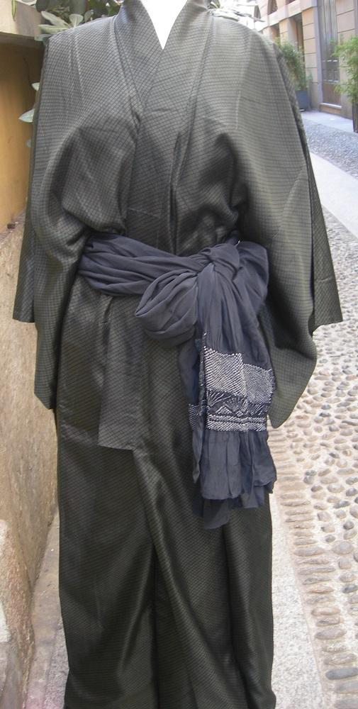 heko obi, cintura per uomini, con shibori