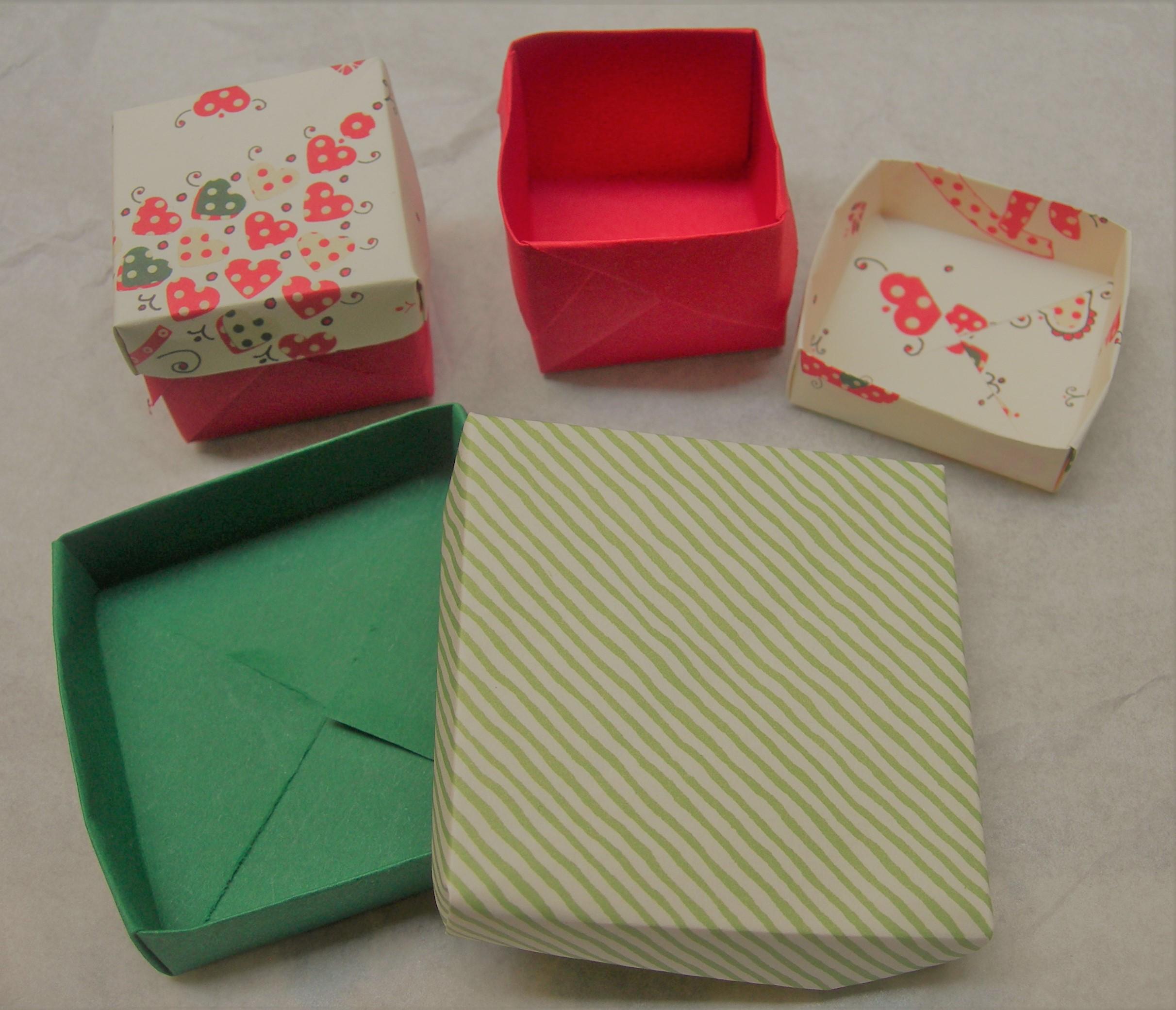 scatole in origami