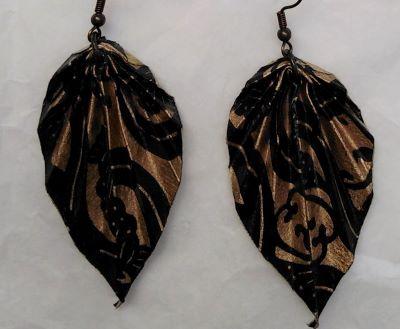 orecchini origami foglie