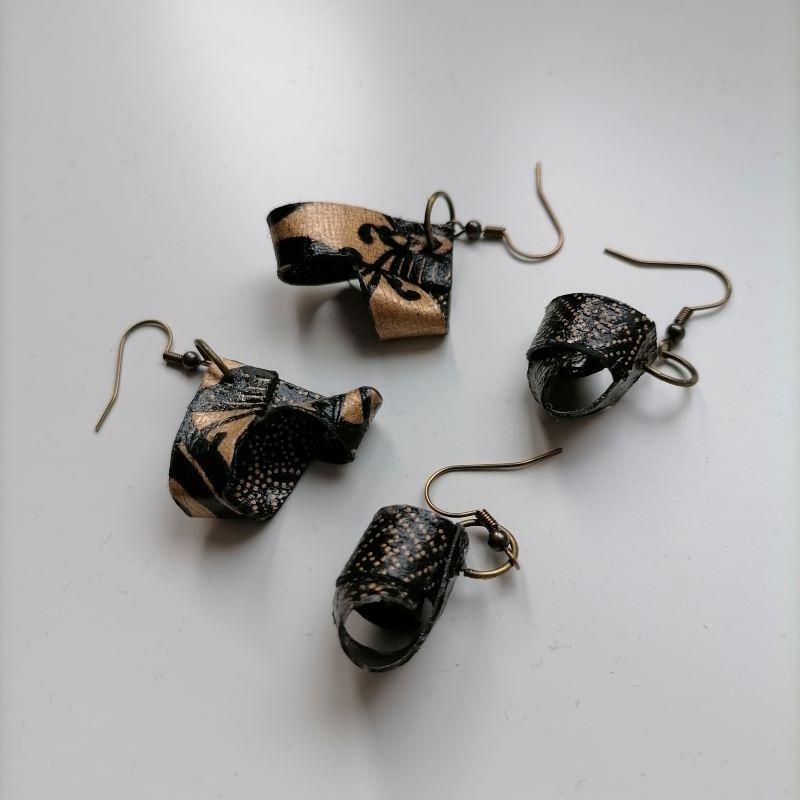 orecchini di carta